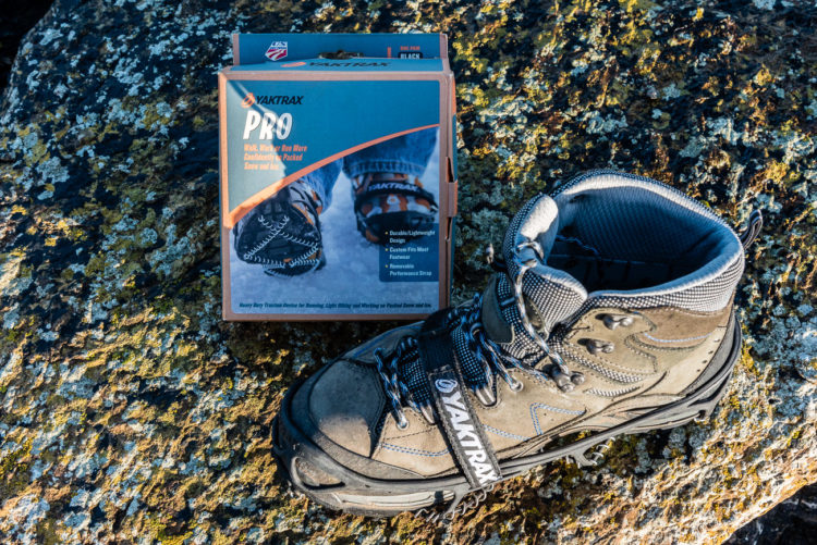 Yaktrax Pro fitted to boot