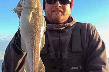 Matt Clark with a shore caught codling