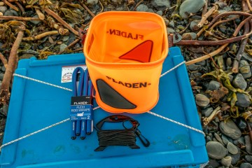 Fladen collapsible bucket and flexi rod wraps