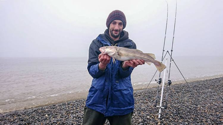 Chris Clare with his codling
