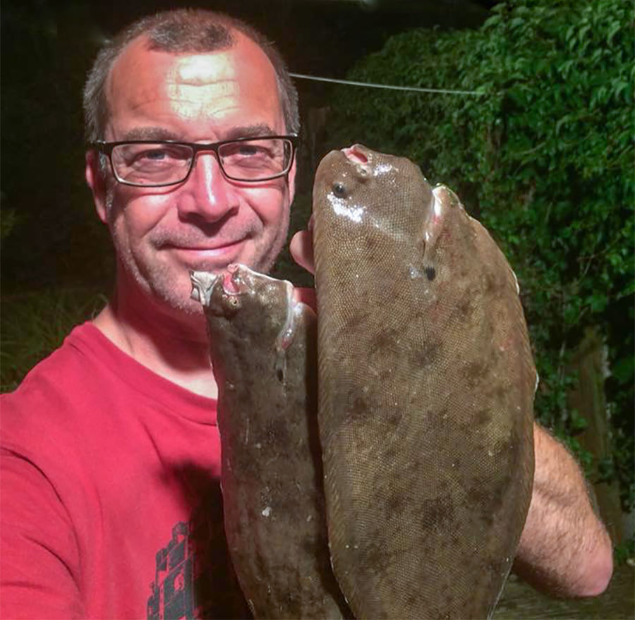 Dave with two tasty sole