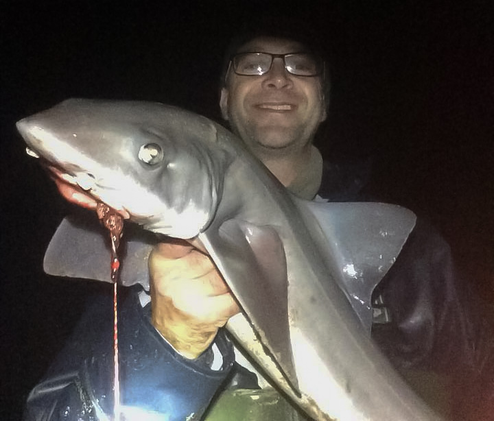 Dave Brown with a 9½lb smoothhound