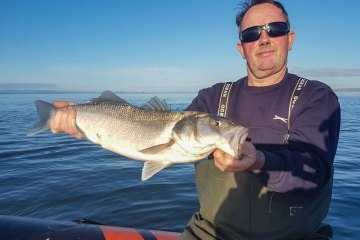 Not to be outdone by brother Jeff, Kevin Osbourne landed a bass of around 5lb from the boat