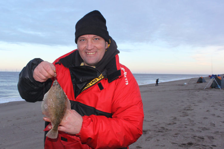 Flounder whisperer Gary Collins with a nice dab