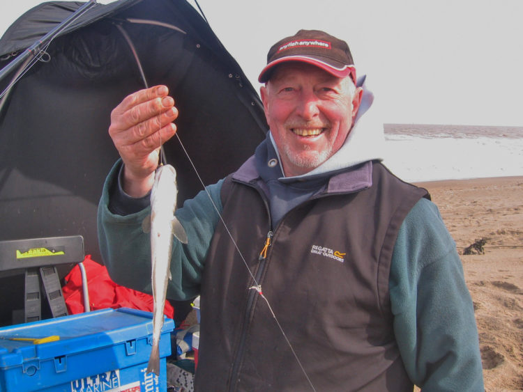 Fourth placed Garry Hutson with the longest round fish