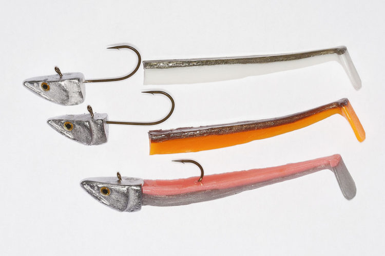 The Paddle Tail Jig Head 65g with Sprat Tails