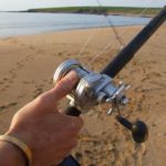an anglers thumb on the diawa saltist 20H