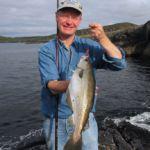 Ashley Hayden with a Beara shore pollack