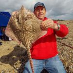 John shows off an Essex thornback ray