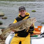 Andy Loble with a qualitty Shetnad Isles cod