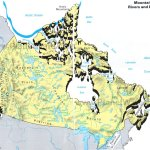 Map Of Canada Mountains Rivers And Lakes Planetware
