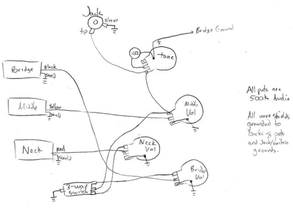 medium resolution of  epiphone p 93 circuit diagram