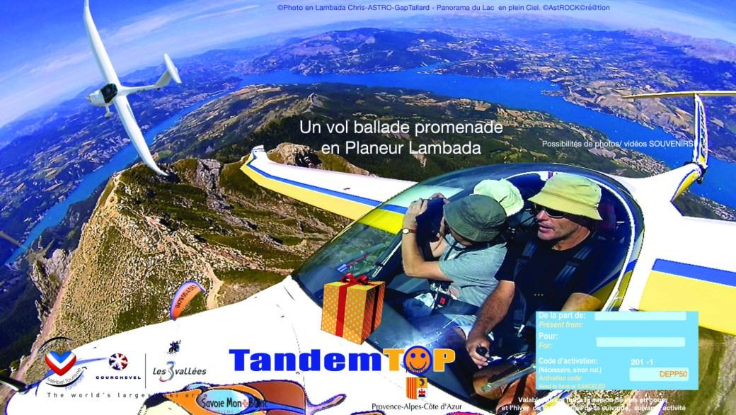 Bon cadeau Promenade ASTROplaneur GapTallard.FR Planeur Lambada