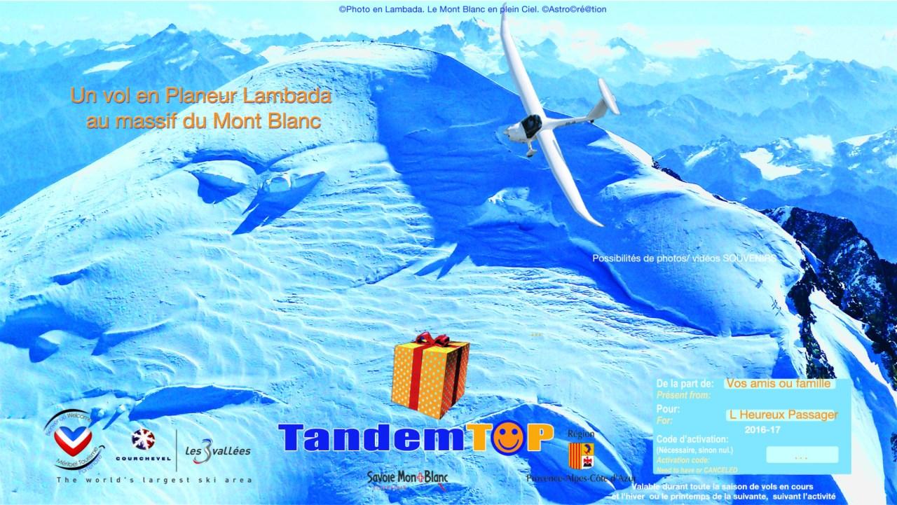 Bon cadeau Vol au Mont Blanc ASTROplaneur GapTallard.FR Planeur Lambada