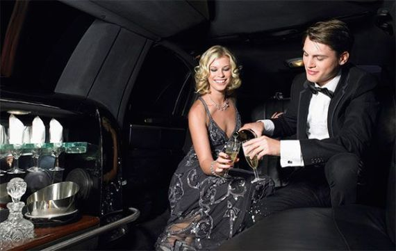 Plan romantico en limusina