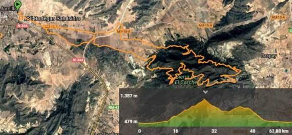 Ruta Jumilla a Sierra de el Carche.