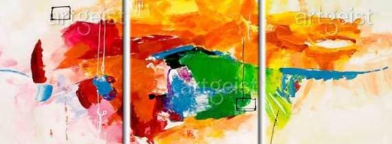 Tríptico el Loro abstracto