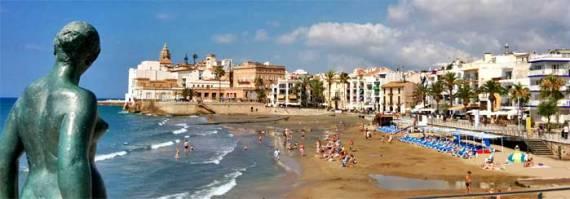 Playa Sant Sebastia Sitges