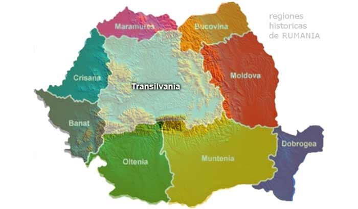 Mapa de Transilvania