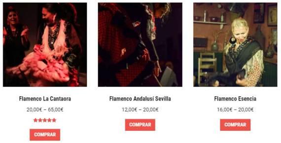 Comprar entradas espectáculos flamencos