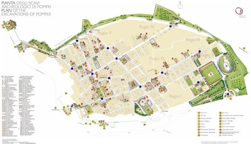 Mapa de Pompeya antigua