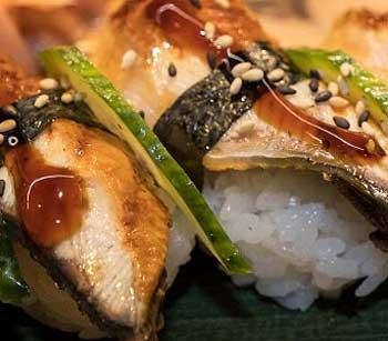 Variedad arroz japónica sushi