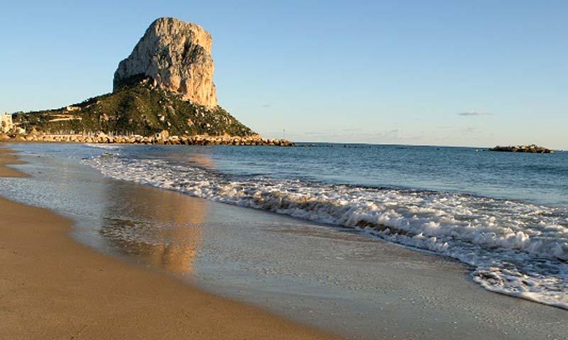 Playas de Calpe en invierno
