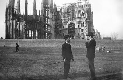 La Sagrada Familia en tiempos de Gaudí