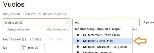 elegir aeropuertos
