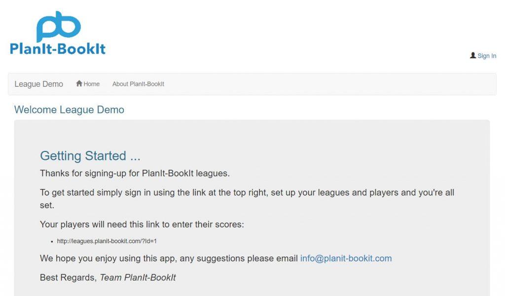 free mini league home page