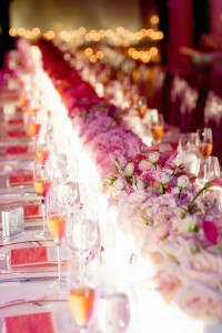 low pink ombre centerpiece