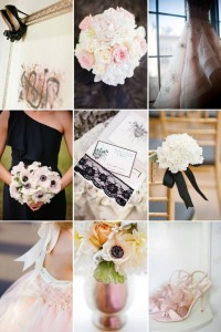 blush wedding flower ideas