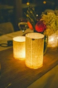 diy winter decorative candle
