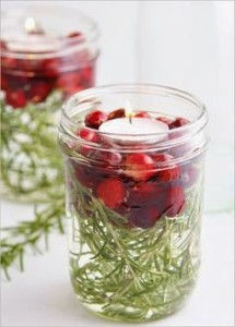 diy cranberry candle decoration