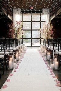 blush wedding ceremony space
