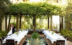 outdoor long table reception
