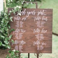 handpainted wooden seating chart