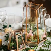 copper terrarium geometric wedding