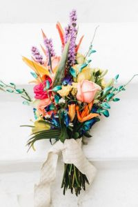 tropical pageant style bouquet