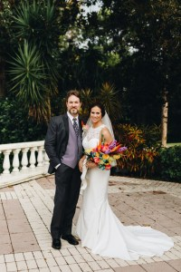 tropical atypical wedding bouquet