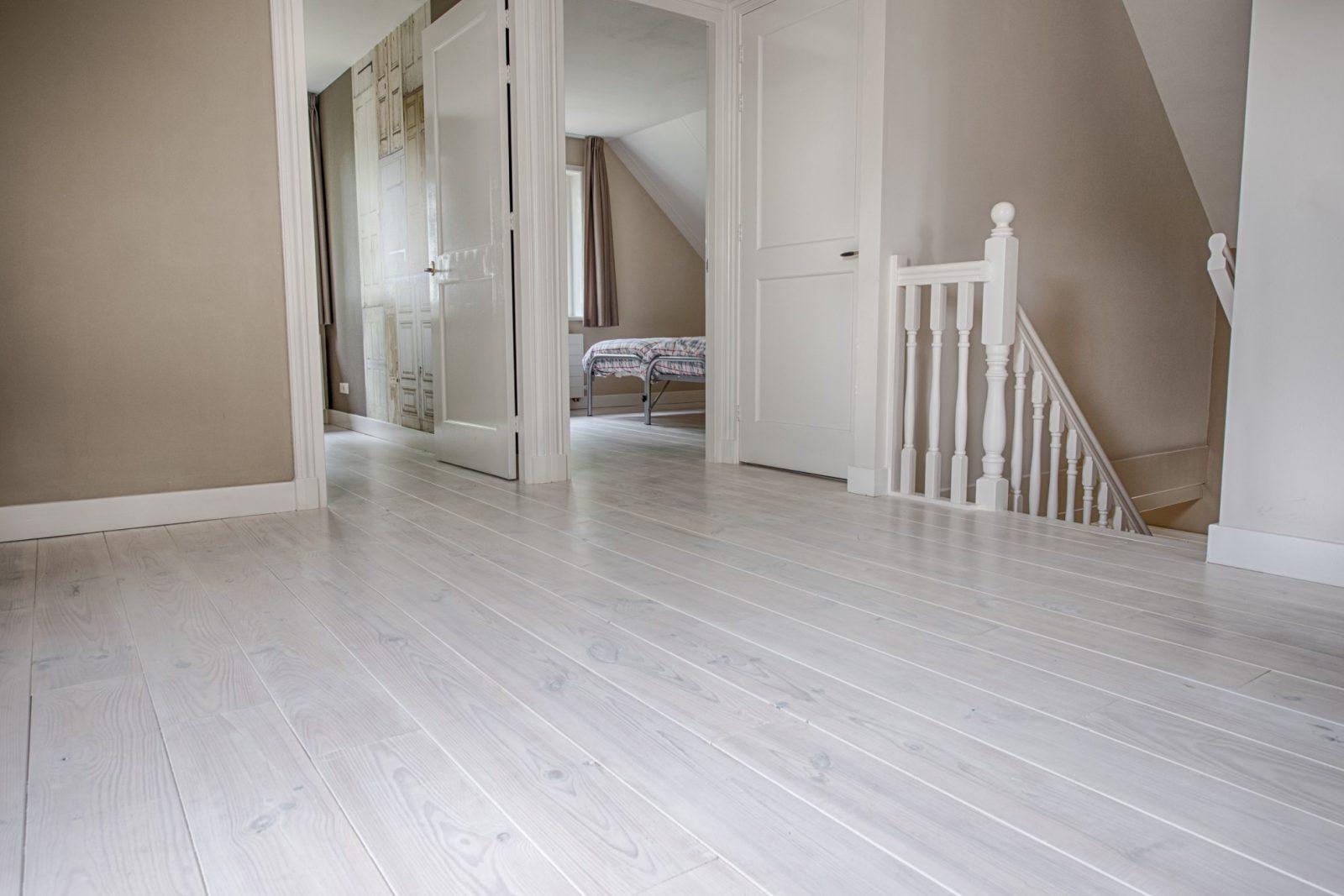Witte Houten Planken Vloer