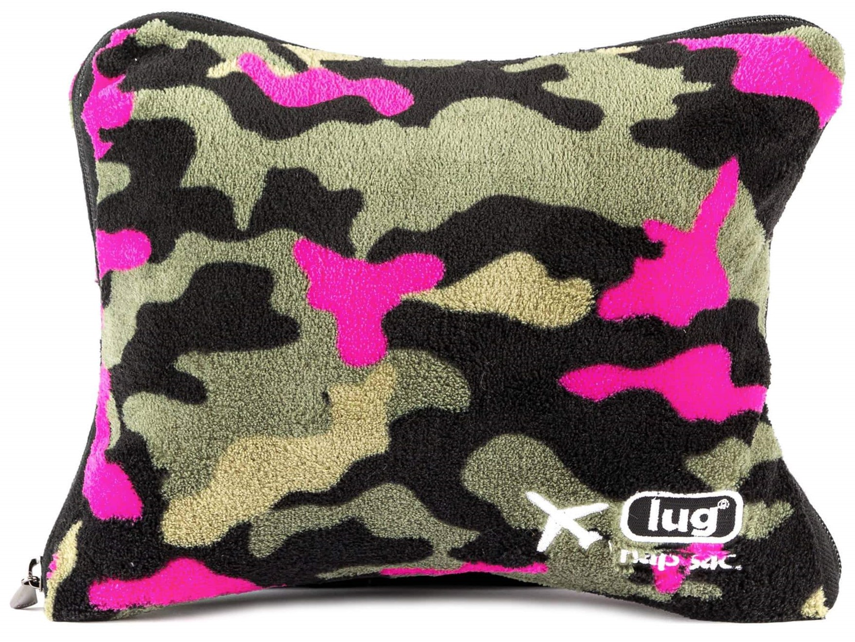 lug nap sac travel pillow blanket camo orchid