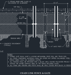 chain link fence gate details cad files dwg files plans and details [ 1112 x 741 Pixel ]