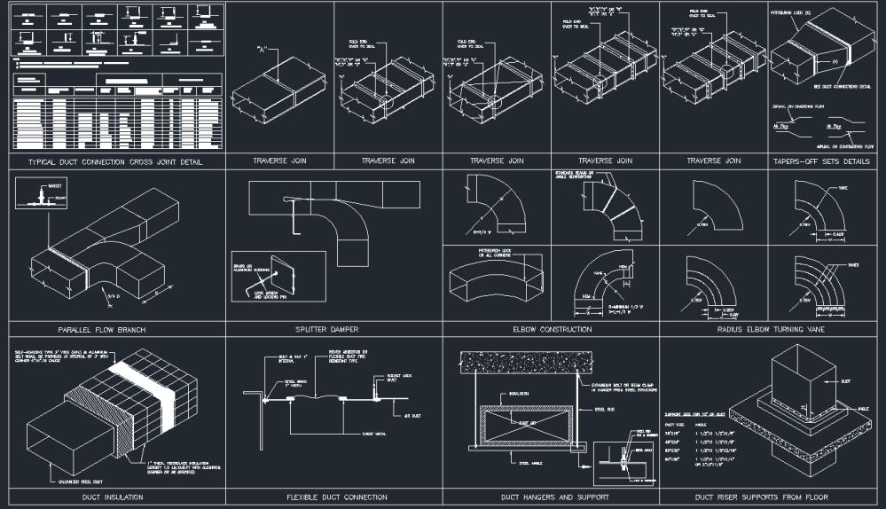 medium resolution of hvac duct drawing