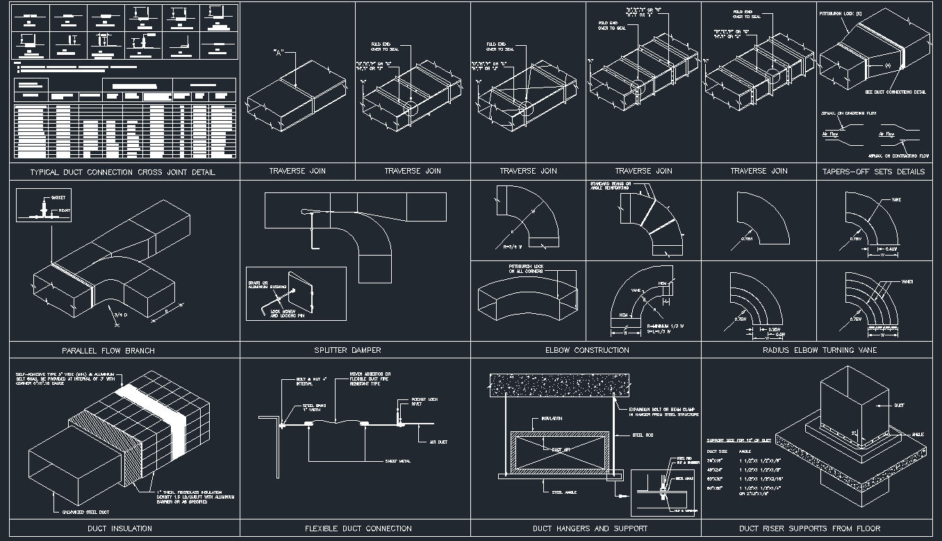 hight resolution of hvac duct drawing