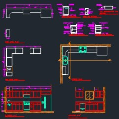 Kitchen Sink Types Materials Microwave Pantry Storage Cabinet And Cabinets Section Detail - Cad Files, Dwg Files ...