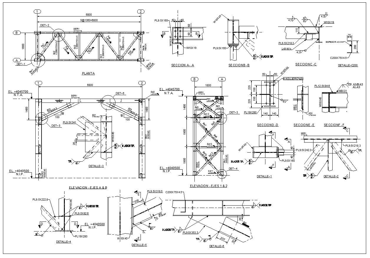 Steel Structure Details V3 Cad Files Dwg Files Plans