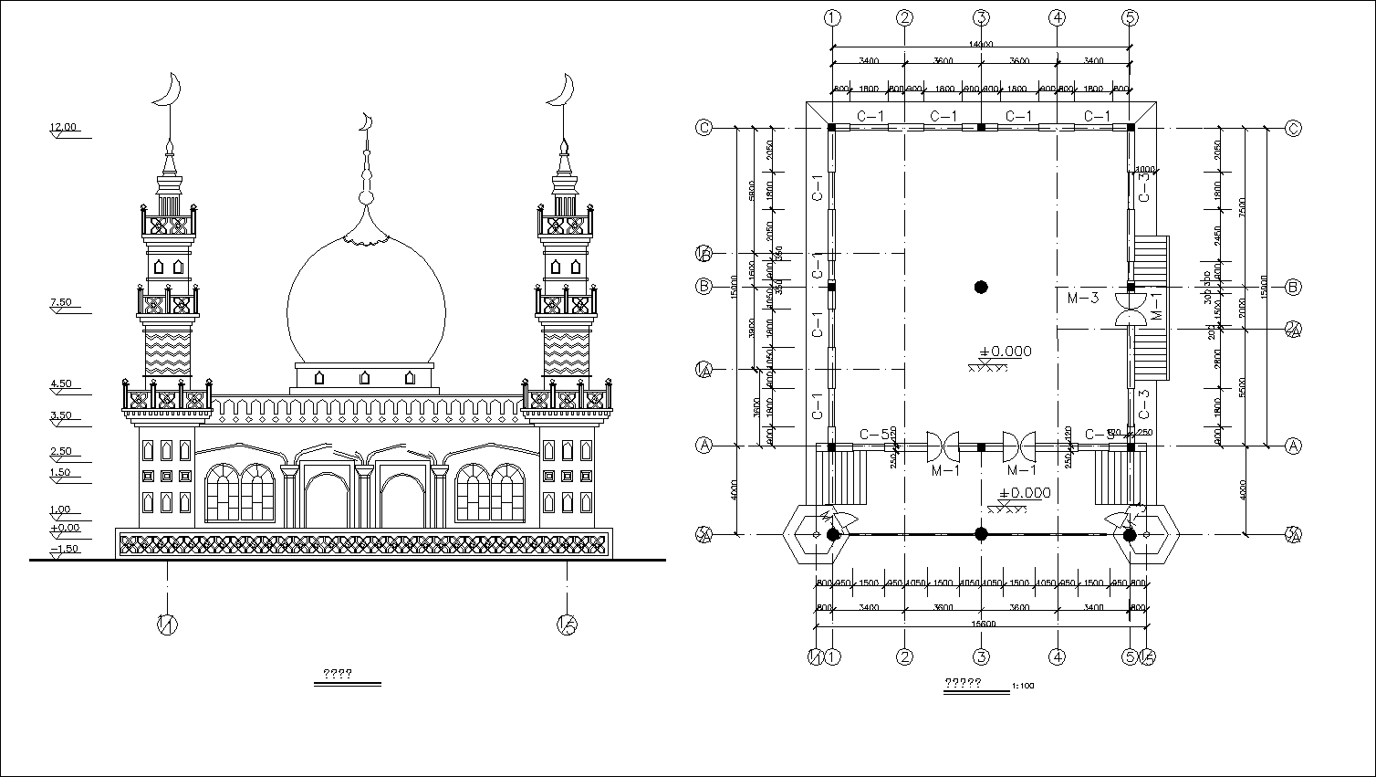Mosque Drawings