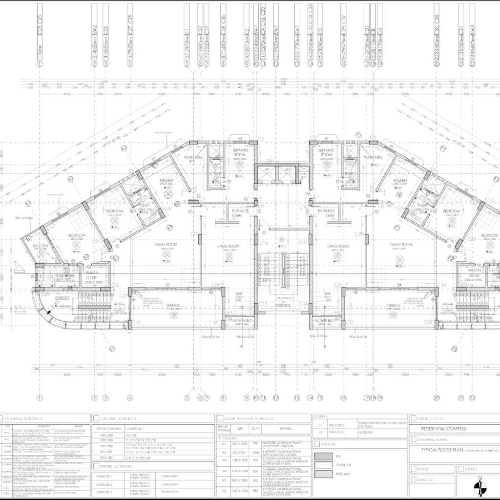 Working Drawing Floor Plan Dwg