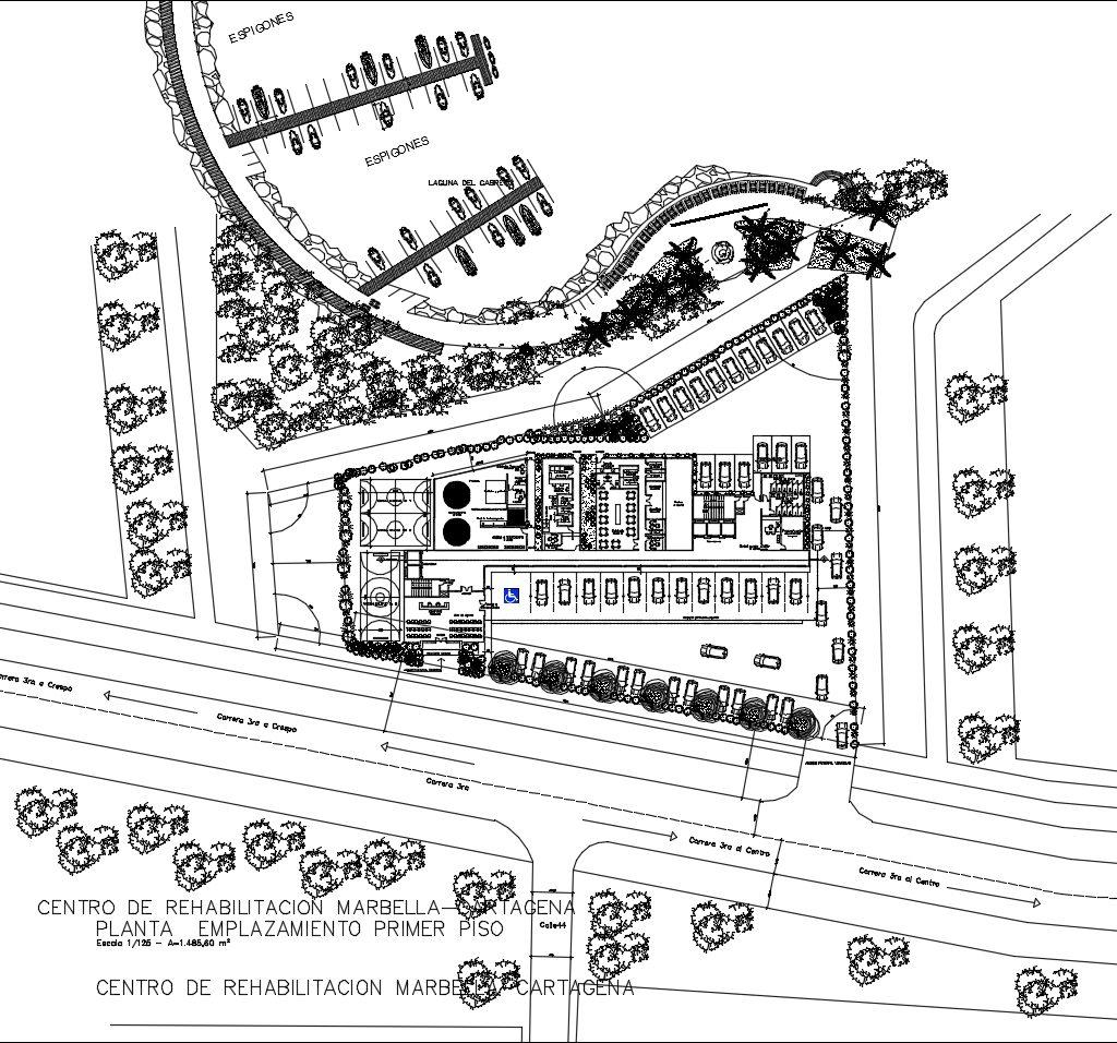【CAD Details】Recovery and rehabilitation center design